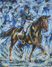 Dressage horse racing riding boot Olympics limited edition print art