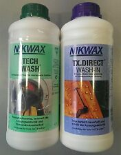 2x 1L NIKWAX TECH WASCH &  TX.DIRECT WASH-IN Waschmittel Imprägnierung NEUWARE