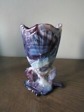 Antique 1903 Northwood Mosaic Purple Slag Glass Maple Leaf Chalice