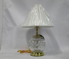 "Waterford Crystal Book of Kells 23"" Double Lit Table Lamp with Shade Stunning!"