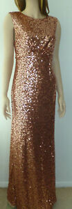 No.1 Jenny Packham Tan Sequin Maxi Party Dress New with tags size UK 12
