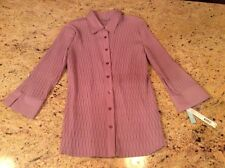 top NWT dusty plum blouse Misses M Apt. 9 Stretch $30