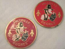Shriners Hillbilly Degree Pair Car Emblem Peel & Stick