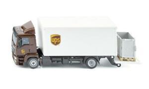 Brand New Siku MAN UPS Truck with Box Body & Tail Lift Die Cast Toy Car 1997