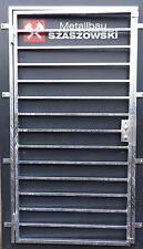 Gittertür Feuerverzinkt Einbruchschutz - Modell Längs