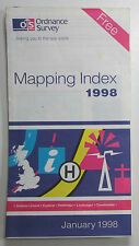 Old vintage OS Ordnance Survey Mapping Index January 1998
