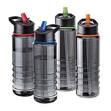 Flip Straw Tritan Drinks Sport Hydration Water Bottle Cycling Hiking BPA Free