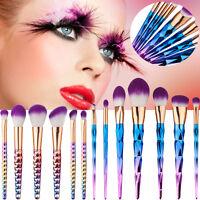 UK Pro Kabuki Cosmetic Makeup Brush Set Foundation Face Powder Blusher Tools Set