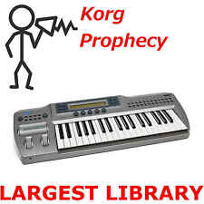 Korg Prophecy 1000+ Largest Patch Sound Program Library SysEx Patches Expansion