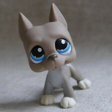 Grey Great Dane Pubby dog LPS mini Action Figures LITTLEST PET SHOP