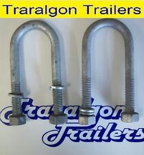 2x Round Galvanized Gal Ubolts U Bolts 50mm 150mm or 175mm Trailer Axles Springs