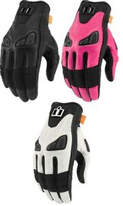 Icon Automag Leather Street Motorcycle Riding Gloves Womans All Sizes & Colors