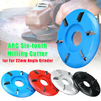 ARC 6-tooth Wood Carving Plane Disc Tool Milling Cutter For 22mm Angle