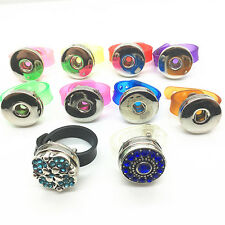 10pcs/lot Snaps Plastic adjustable Jewelry Ring Fit For 18mm Ginger Charm Snaps