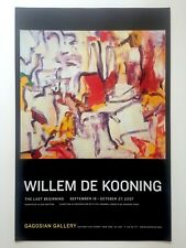 WILLEM DE KOONING RARE ABSTRACT EXPRESSIONIST LITHOGRAPH PRINT EXHIBITION POSTER