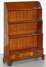 RRP £2200 STUNNING CHARLES BARR FLAMED MAHOGANY WATERFALL BOOKCASE AFTER GILLOWS