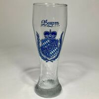 Bayern Pilsner German Swirling Glass With a Beautiful Blue Crest Beer Glass