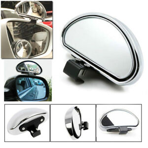 1pc Silver HD Car Van Adjustable View Blind Spot Wide Angle Rear Mirror #080