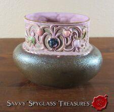 Wonderful Art Nouveau Schafer & Vater Jeweled Pottery Vase