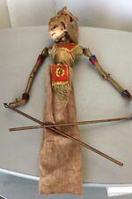 VINTAGE#  Wayang Golek Wooden Indonesian Rod Doll carving Wood  Vintage Puppets
