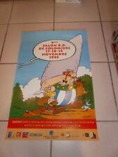 Astérix. Affiche pour le 5° Salon BD à Colomiers 1995 avec Obélix, Idéfix...