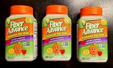 3-PK Fiber Advance Gummies For Kids 60-CT EACH 3g Fiber (SEALED) SAME-DAY SHIP
