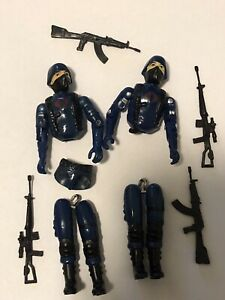Gi Joe 1983 Cobra Soldier Vintage Parts Lot ARAH Swivel Army Builder