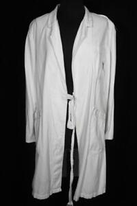 VERY RARE VINTAGE 1950'S-1960'S  FRENCH WHITE COTTON LAB COAT SIZE MEDIUM