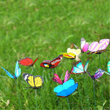 24Pcs Colorful Insects Butterfly Stakes on Metal Spring Garden Lawn Yard Decor