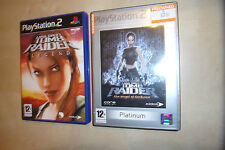 2x PLAYSTATION 2 PS2 GIOCHI Lara Croft Tomb Raider The Angel of Darkness + legenda