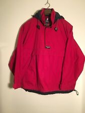 Vintage 1990s Chaps anorak jacket Large Red 90s Crl