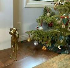 Vintage Solid Brass wipet Greyhound Dog Statue Figurine