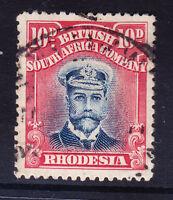 RHODESIA George V 1913 SG231 10d blue & carmine-red die II P14 fine used cat £55