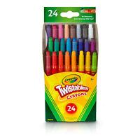 Brand New Crayola Mini Twistables Crayons, 24 Classic Colors Non-Toxic Art Tools