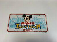 Disney Mickey Mouse Mickey's Toontown Disneyland Vintage License Plate