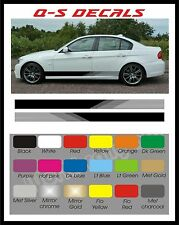 Car Side Stripe Decals Graphics Stickers BG265 Any Colour both sides