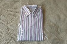 New Henry Grethel Athletic Fit 15 32/33 Striped Button Front Dress Shirt 38 cm