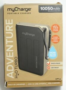 myCharge Adventure H2O Turbo 10050 mAh Portable Charger for iPhone 12/Galaxy S21