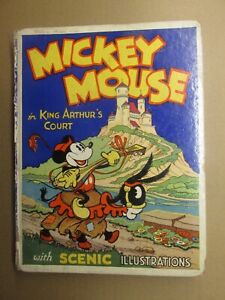 Mickey Mouse in King Authors Court Pop Up book 1934 GD 2.0 UK Edition RARE!