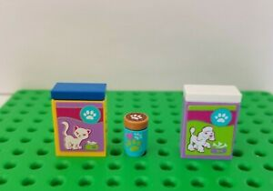New Lego  Animal Rescue Food Set Dog Cat Treats Friends Mini Doll Gear Paw Print