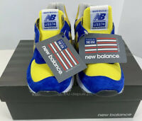 New Balance US574 Womens Size 9 B Made In USA Blue And Yellow Suede NIB