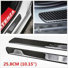 2X 25.8CM Carbon Fiber Car Truck SUV Scuff Plate Door Sill Panel Step Protector