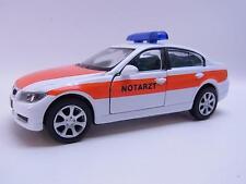 35173 | Welly BMW 330i Notarzt Modellauto mit Antrieb 1:40 Neu