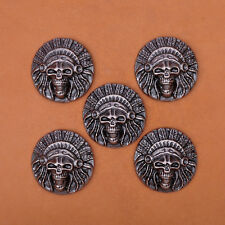 32mm 10pcs Southeast Naive Indian Head Western Saddle Leathercraft Conchos Decor
