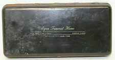 "11"" VINTAGE EGAN FUNERAL HOME METAL LOCK BOX"