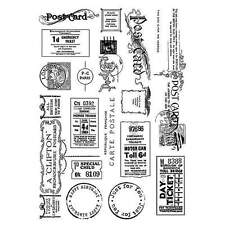 Crafty Individuals VINTAGE TICKETS AND EPHEMERA Unmounted Red Rubber Stamps