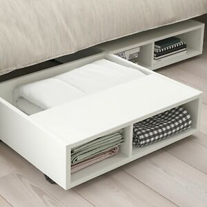 """IKEA FREDVANG Underbed storage/bedside table, white 23 1/4x22 """""""