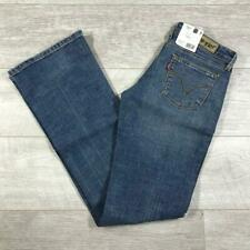 *NEW* Womens LEVIS 572 Blue Stonewashed Low Rise Stretch Bootcut Jeans 572s