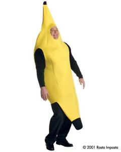 Mens Adult Funny Deluxe BANANA Food Costume