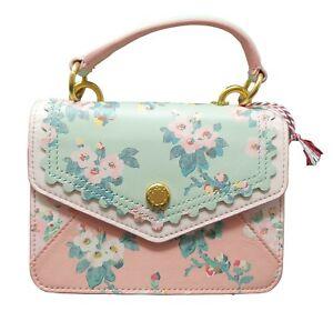 Cath Kidston Mayfield Blossom Mini Leather Handbag Small Pink NEW Tags